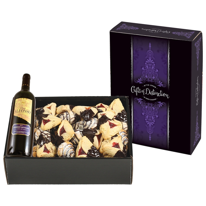 Purim Gift Box with Wine
