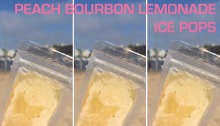 Peach Bourbon Lemonade Ice Pops