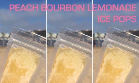Peach Bourbon Lemonade Ice Pops