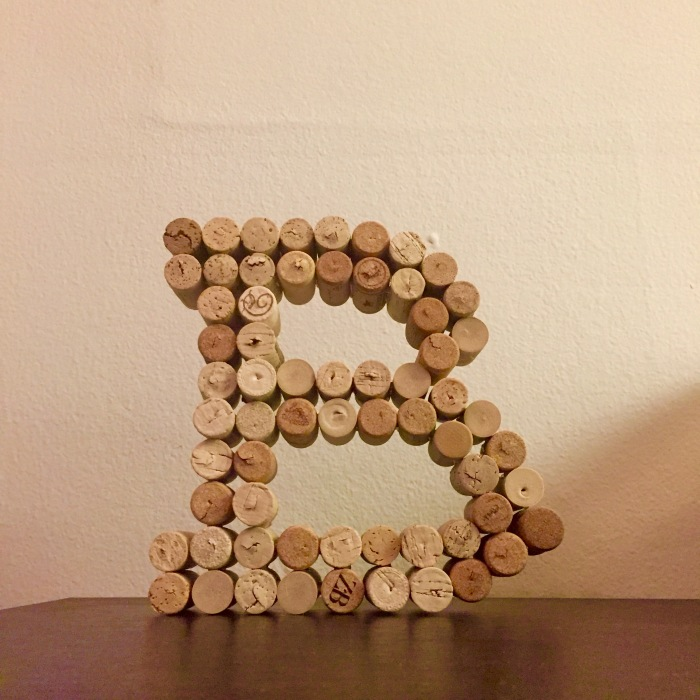DIY Wine Cork Letter B