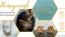 Honey and Honeycomb Jewelry and Accessories for Rosh Hashanah