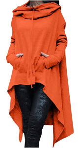 Orange Long Sleeve Hoodie