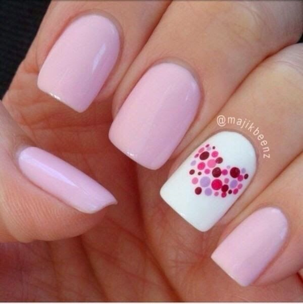 Valentines Day Nails Heart | Crafts & Kugel