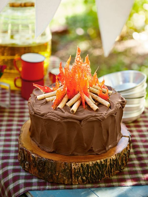 Campfire Cake for Lag B'Omer | Crafts & Kugel