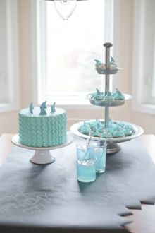 Shark Week Party Desserts Cake and Cupcakes | Crafts & Kugel