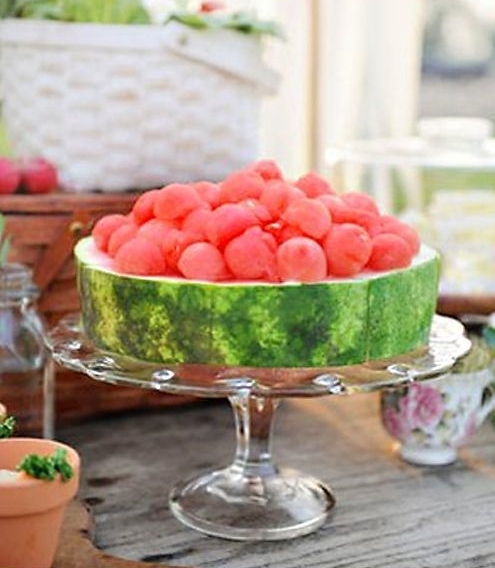 Watermelon Dessert and Cake Stand