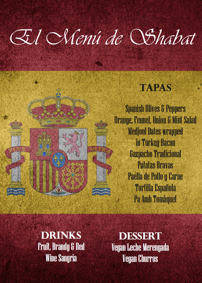 Spanish Themed Shabbat Dinner Menu | Crafts and Kugel