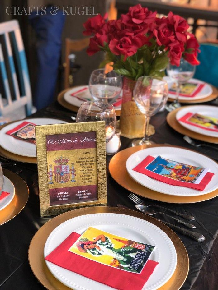 Spanish Themed Shabbat Dinner Crafts & Kugel