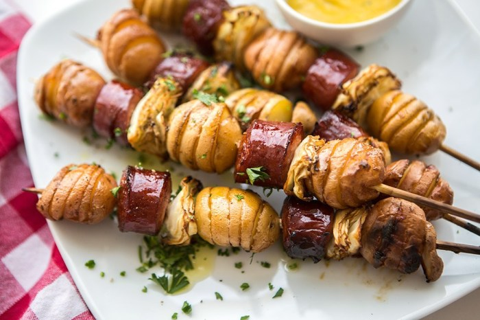 Sausage Potato Skewers For your Oktoberfest Sukkot | Crafts and Kugel